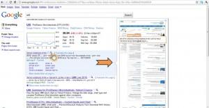 דוגמא לרעיון מדף תוצאות החיפוש של גוגל