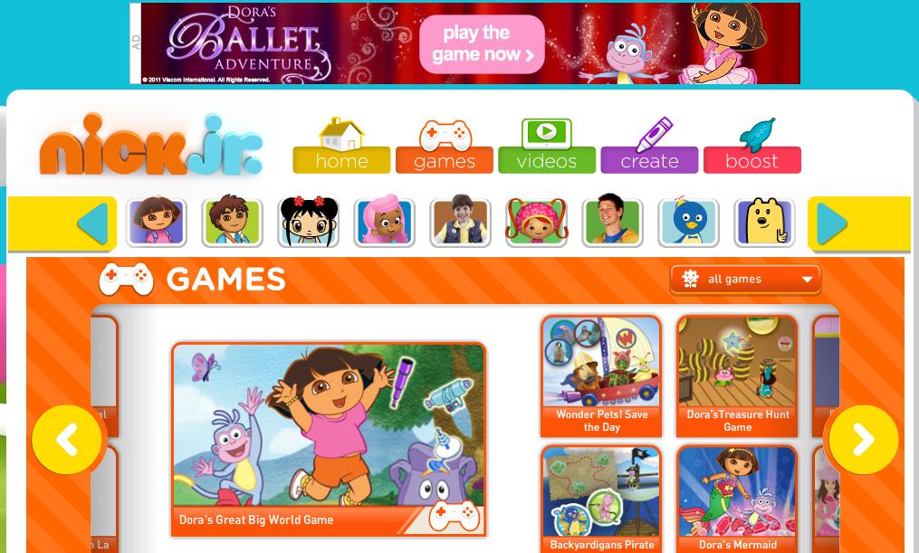 nickjr ads  עיצוב לילדים – משימה לא פשוטה