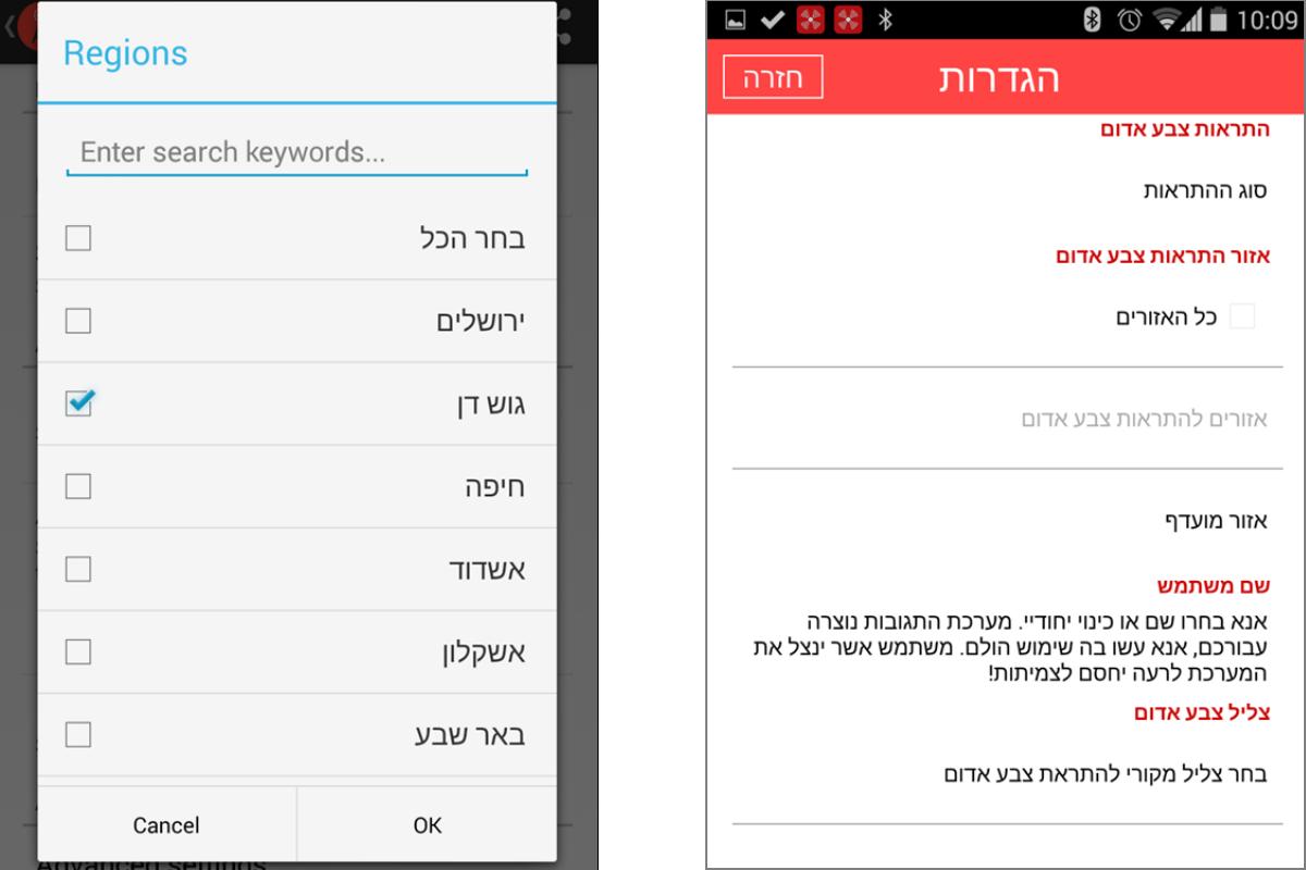 אף אחת מהאפליקציות לא איפשרה קבלת התראות על פי איתור מיקום המכשיר