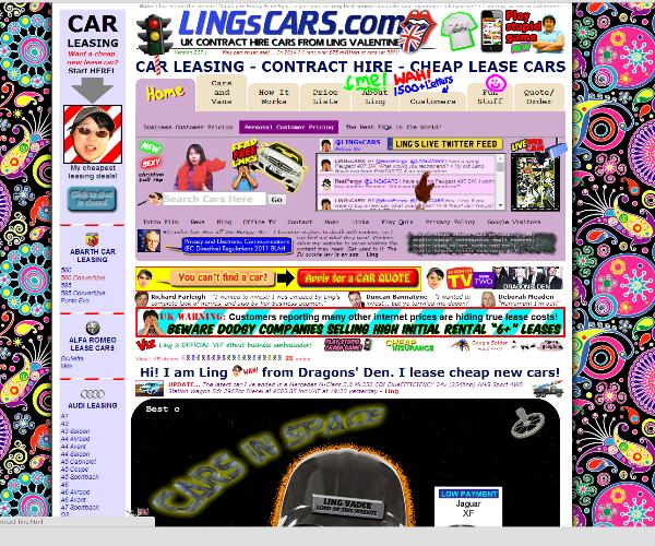 מה לא לעשות? אתר עמוס מדיי. מקור: lingscars.com